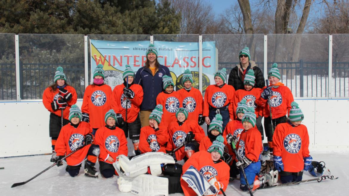 Evanston Kits at the Hockey Winter Classic Challenge.