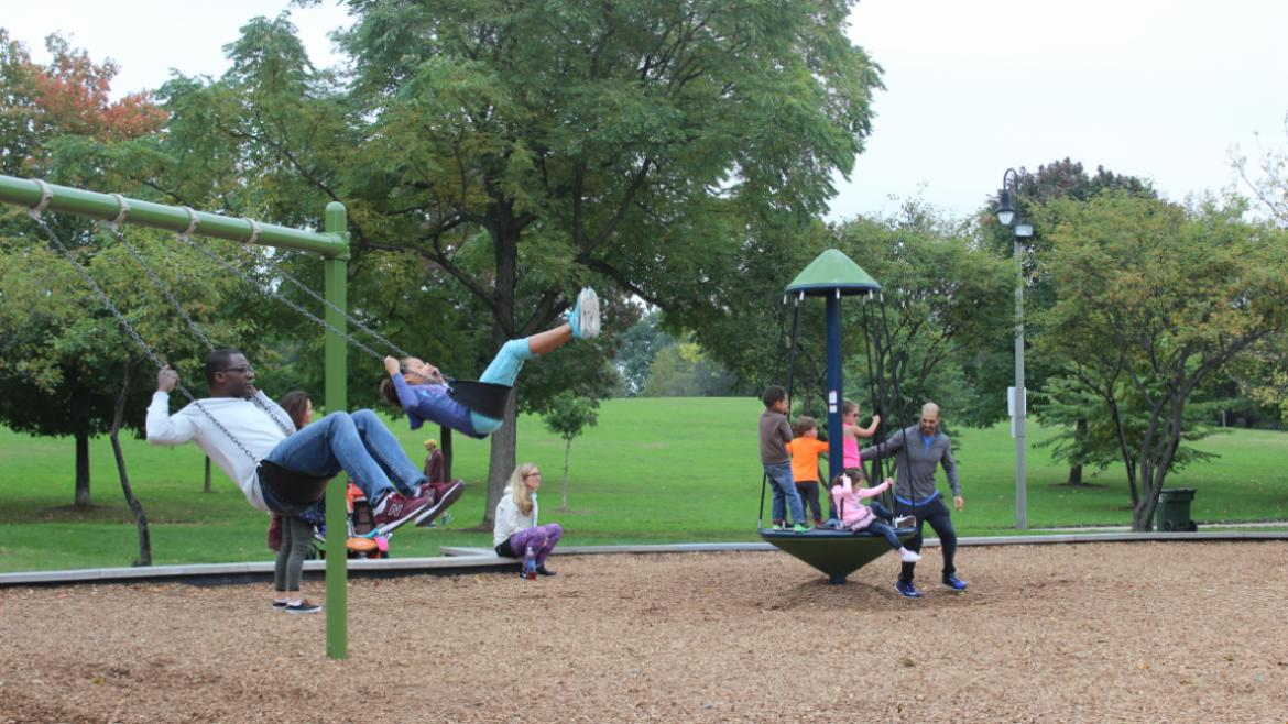 Chicago Plays! Day. From Abbott Park to Zatterberg Park, we celebrated the 327 playgrounds that were