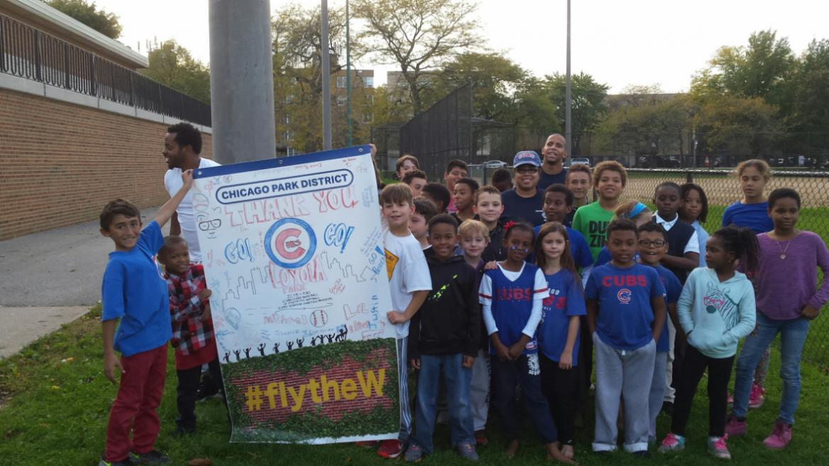 Loyola Park kids are pumped! Go Cubs Go