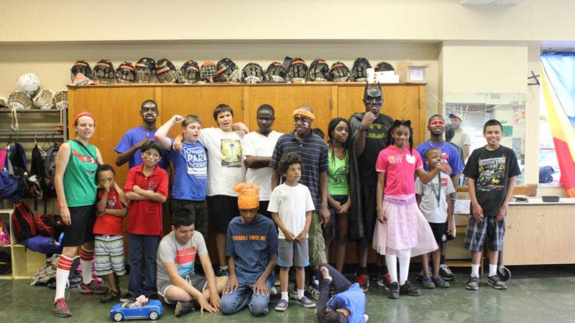 Super Hero Day at Loyola Park special rec Day Camp.