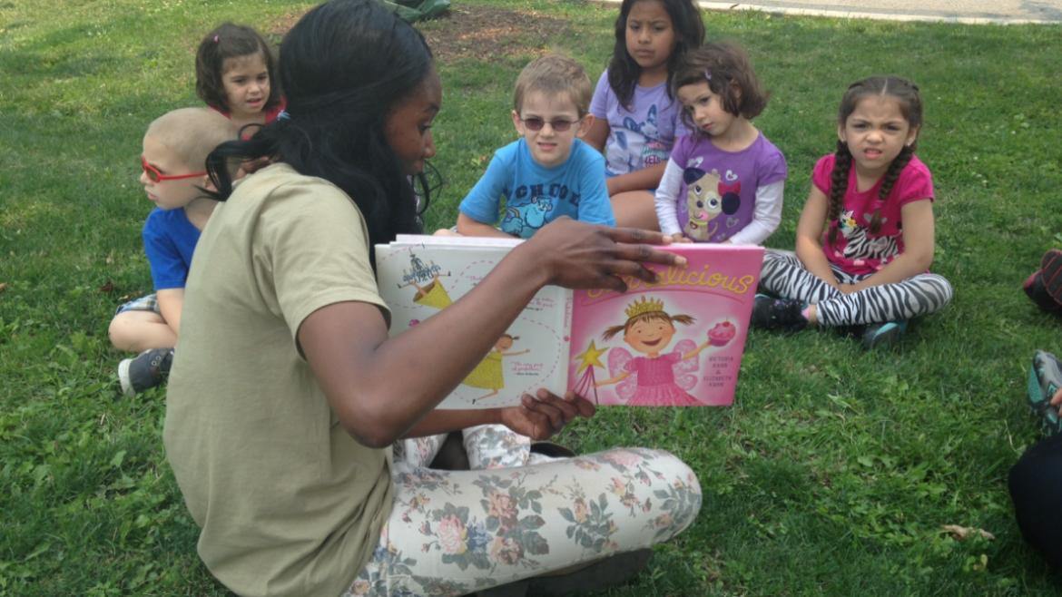 Reading in Fun at Maplewood Park.