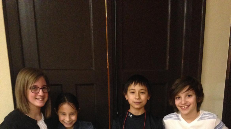 Cool kids at Mayfair Park Valentine Dance.
