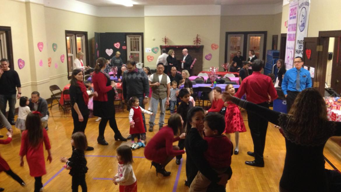 Everyone is up dancing at Mayfair Park this Valentine's Day.