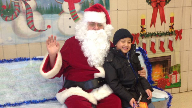 Santa made a stop at McGuane Park!