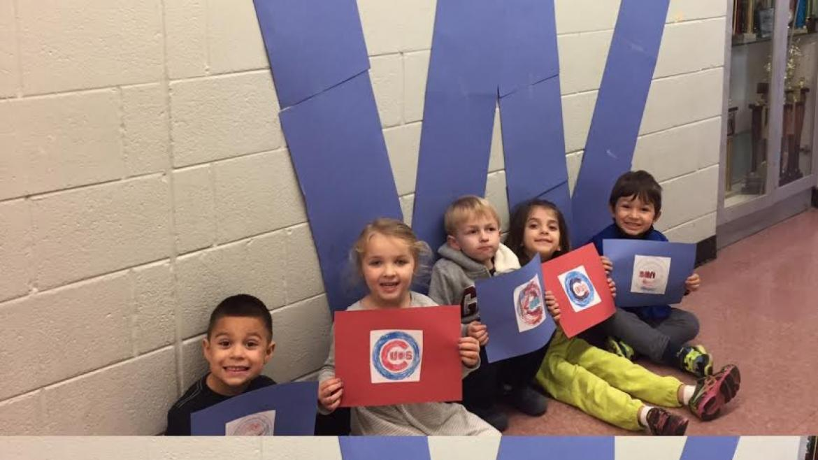 Oriole Park kids are ready to #FlytheW