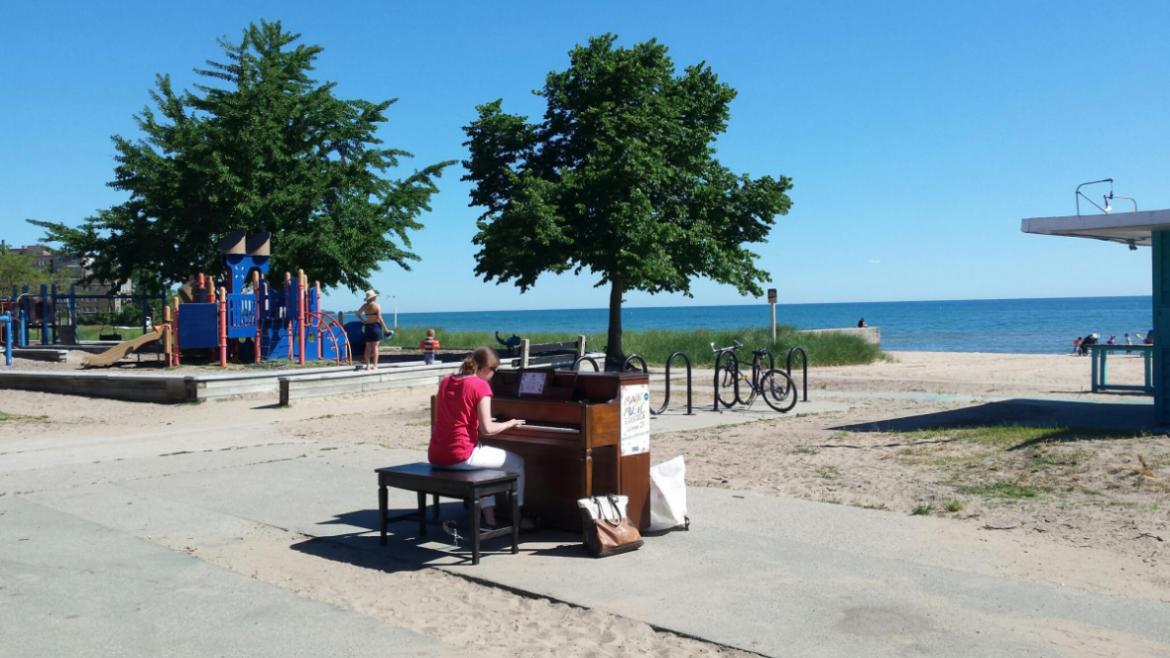 Check out pianos in the parks at Loyola Park.