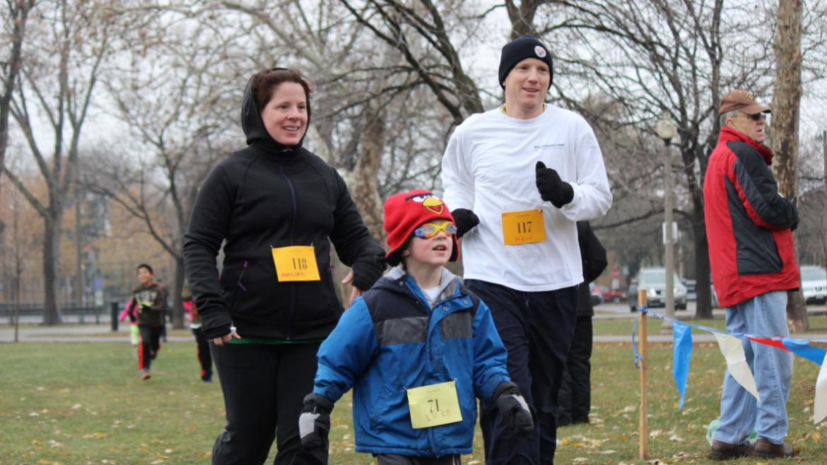 Family fun at the Portage Park Turkey Trot!
