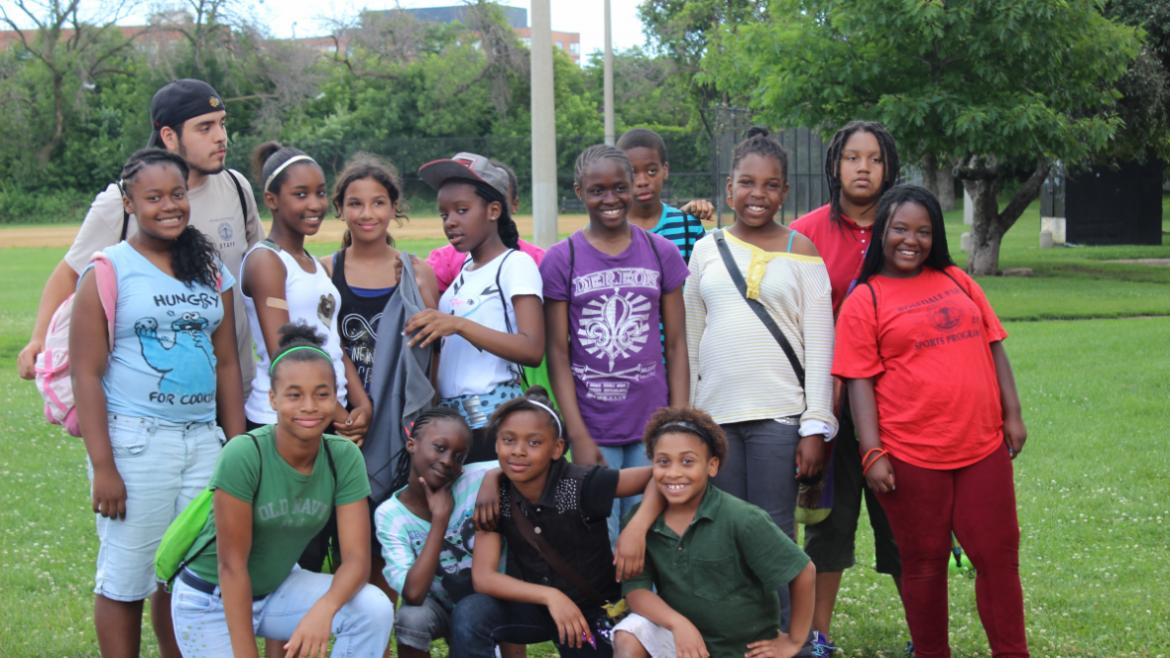 Pottawattomie campers smile for the camera!