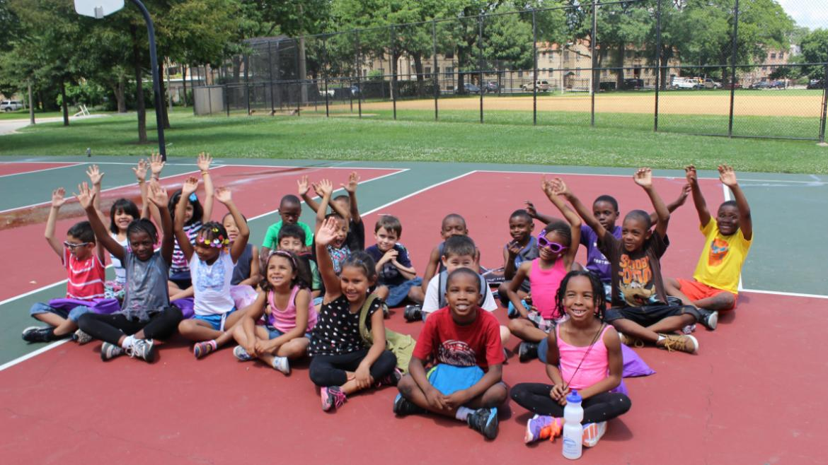 Campers are excited about camp at Pottawattomie Park.