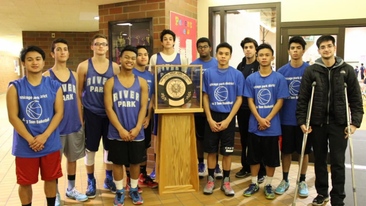 Gold Medal recieves a visit from the boys basketball team.
