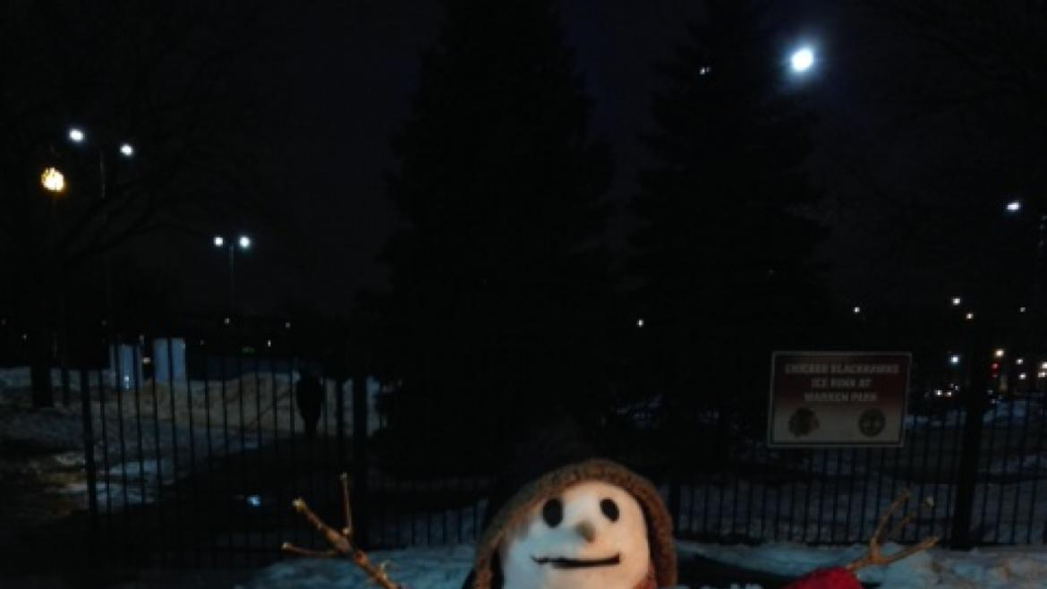 Romeo was melting hearts at the Warren Park ice rink.
