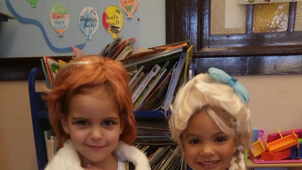 Anna and Elisa visited Rutherford Sayre Park today for Halloween fun.