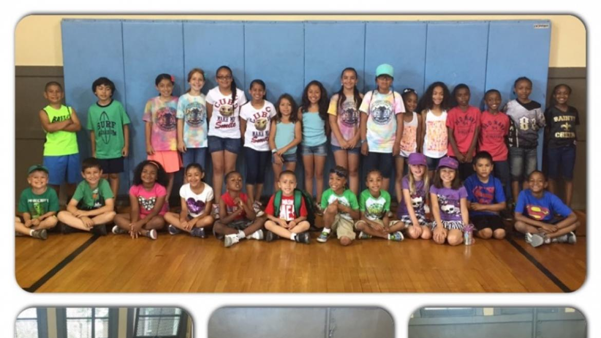 Campers enjoying mock Twin Day at Rutherford|Sayre Park