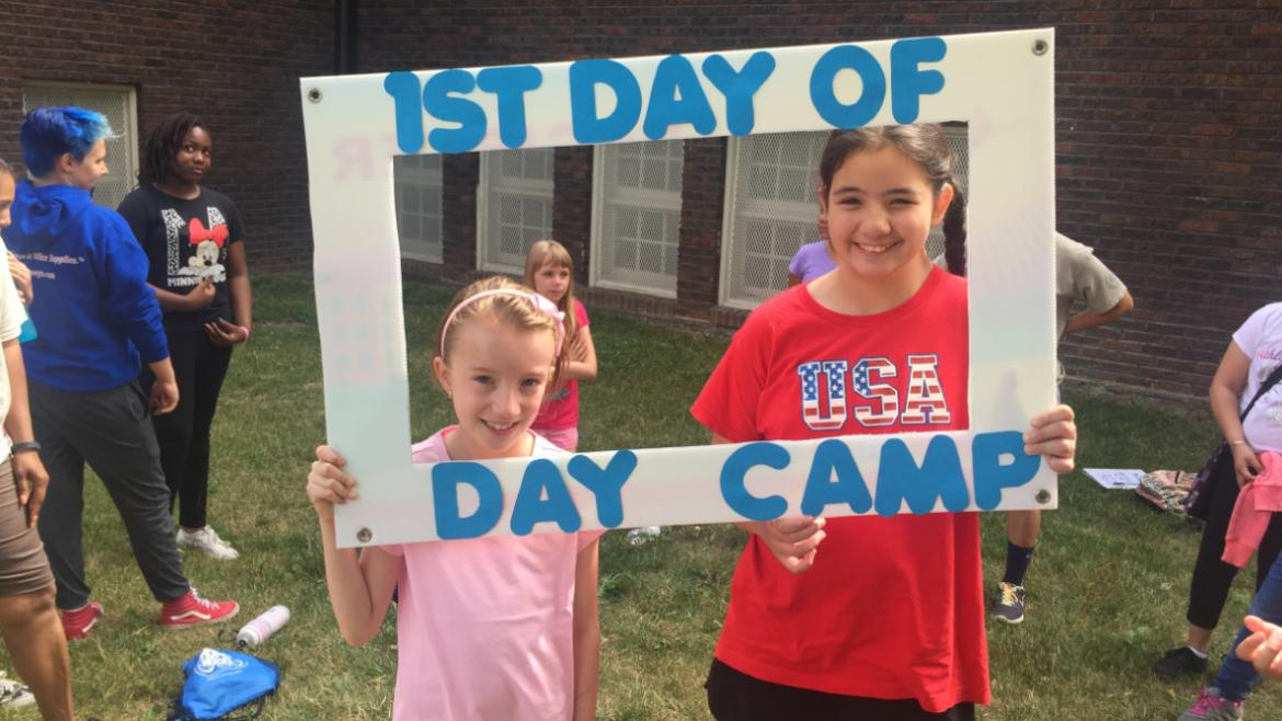 First day of summer camp at Rutherford Sayre Park