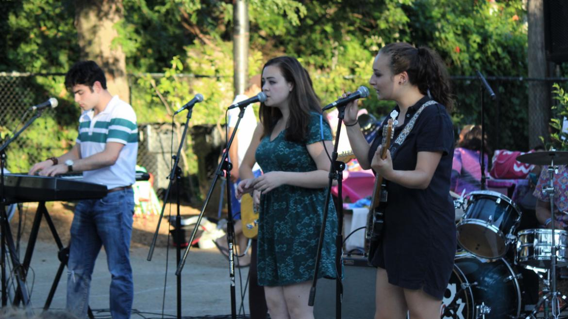 School of Rock performing at Adams Playground Park
