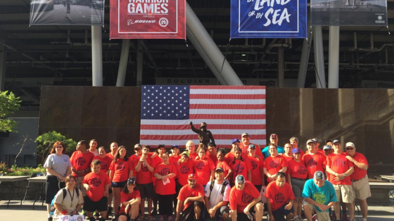 Shabbona Park ready to cheer on the athletes!