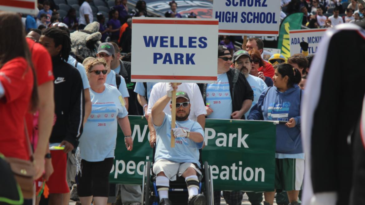 Welles Park at the Opening Ceremony