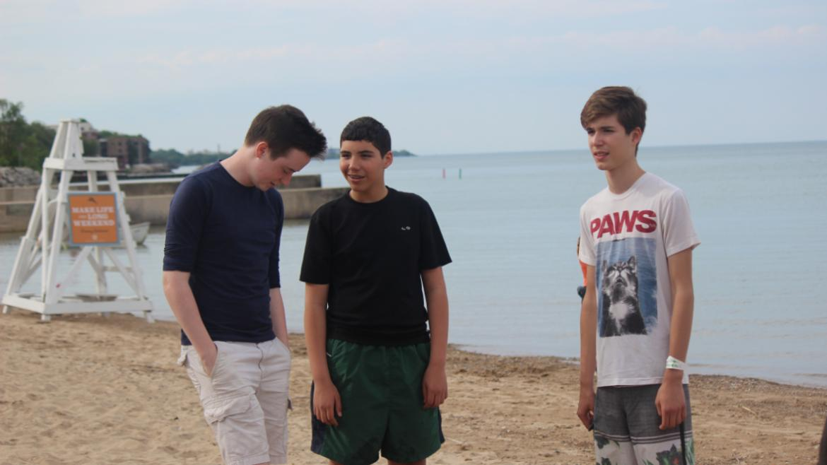 Teen Boys at the Beach
