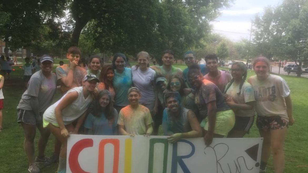 Revere Park staff got covered in color at the Color Run during day camp.