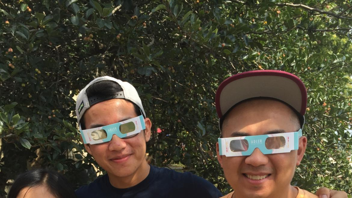 Park visitors of all ages enjoyed watching the eclipse at Berger Park.(19)