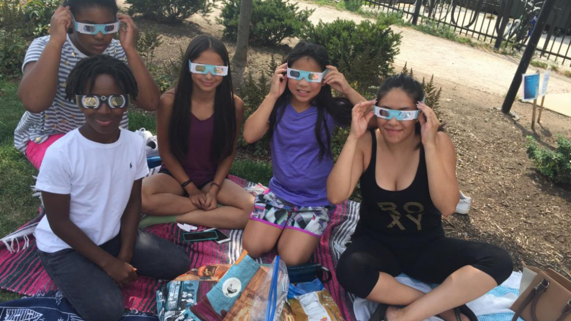 Park visitors of all ages enjoyed watching the eclipse at Berger Park.(21)