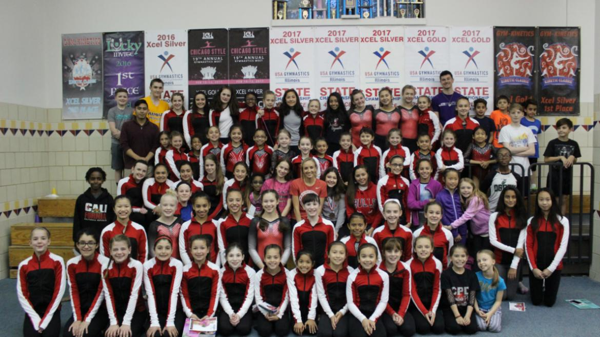 Group shot with Nastia Liukin