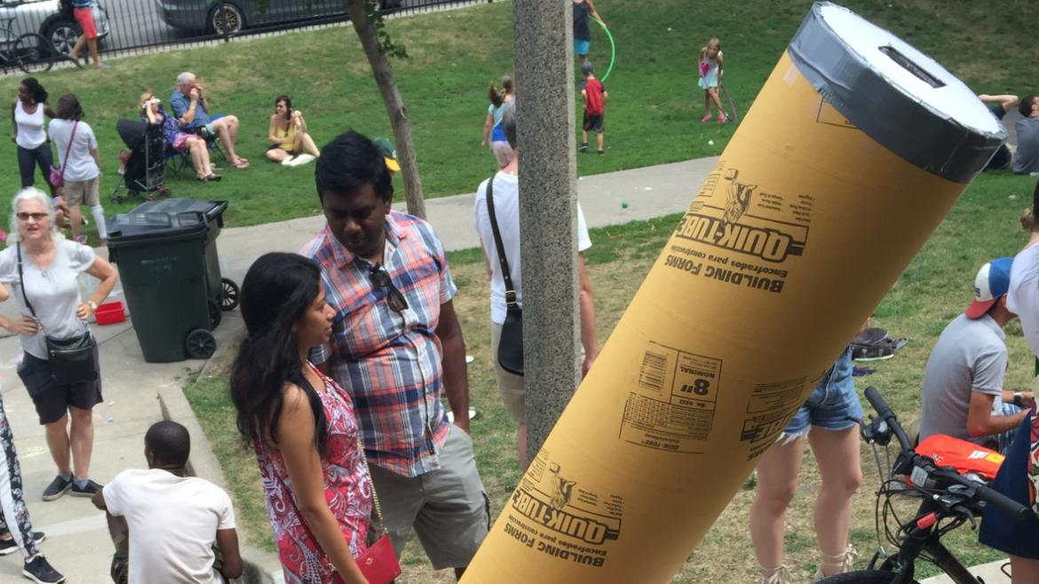 These kiddos made their own out of huge tubes!!