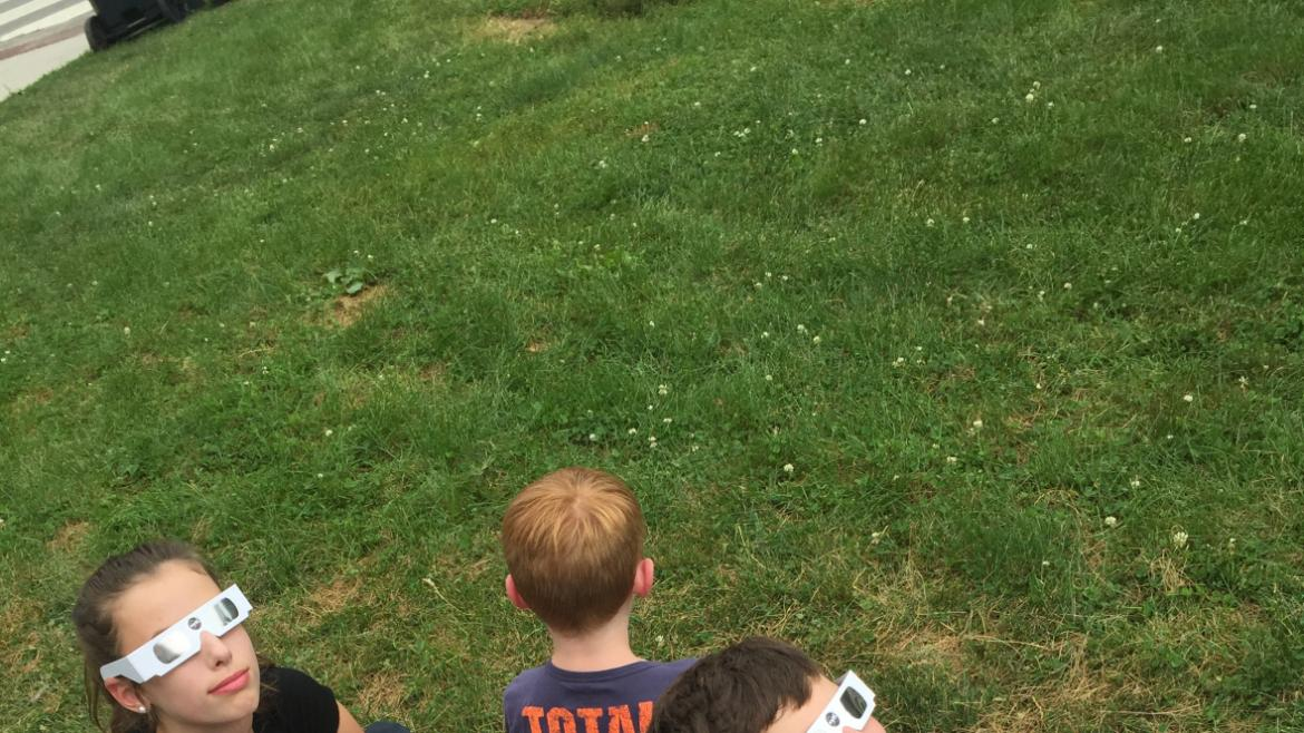We are over the moon with excitement as we watch the solar eclipse at Lincoln Park!!(1)