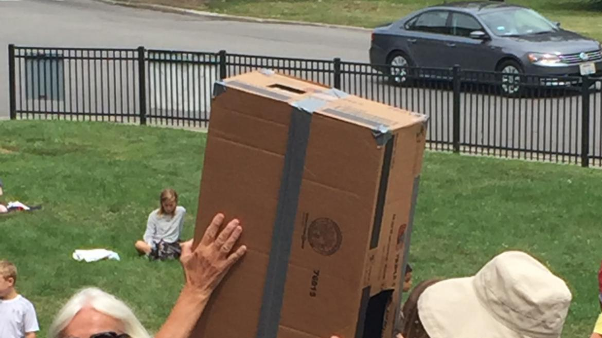 Park visitors of all ages enjoyed watching the eclipse at Lincoln Park.