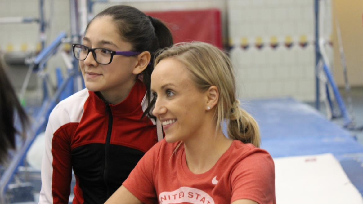 Nastia Liukin posing for photos.(75)