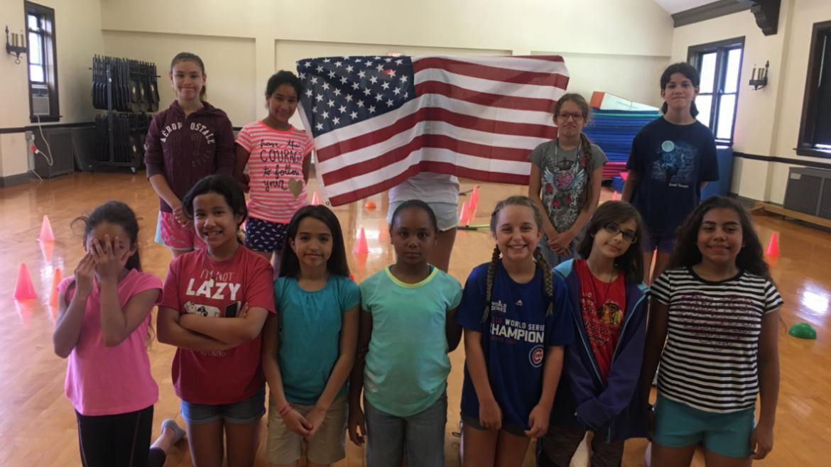 Campers celebrating 4th of July at Revere Park