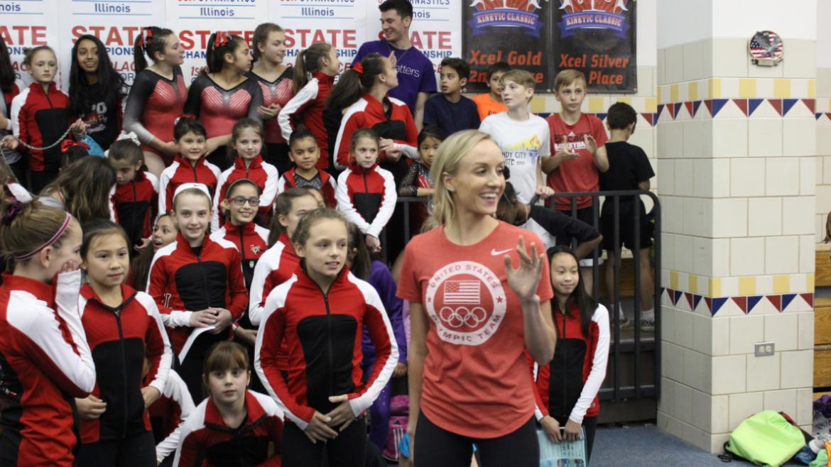 Thanks Nastia Liukin for coming to Peterson Park!