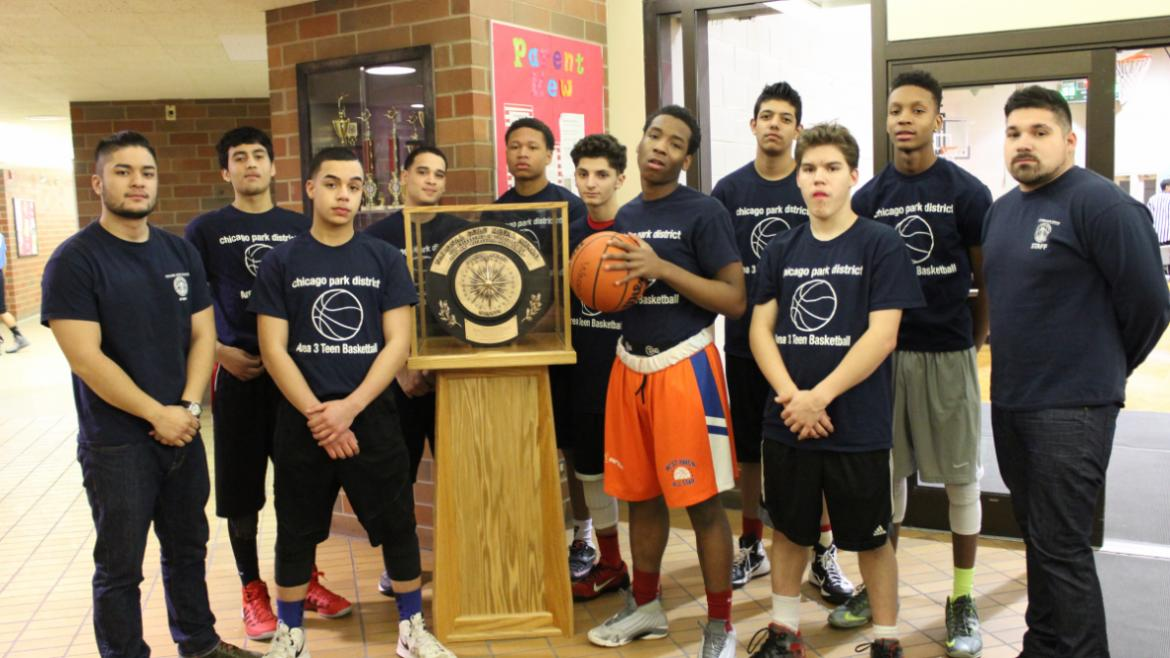 Winnemac Park Teen Basketball Team.