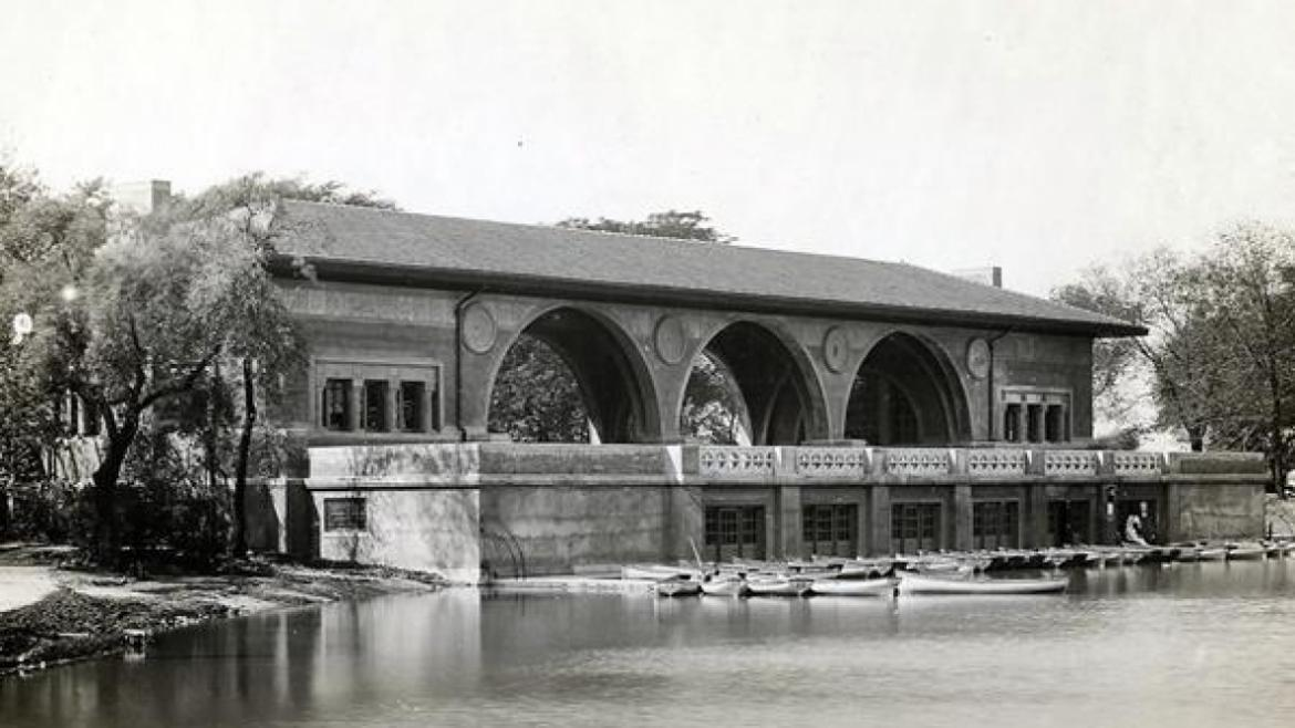 Humboldt Park Boat House, ca. 1910