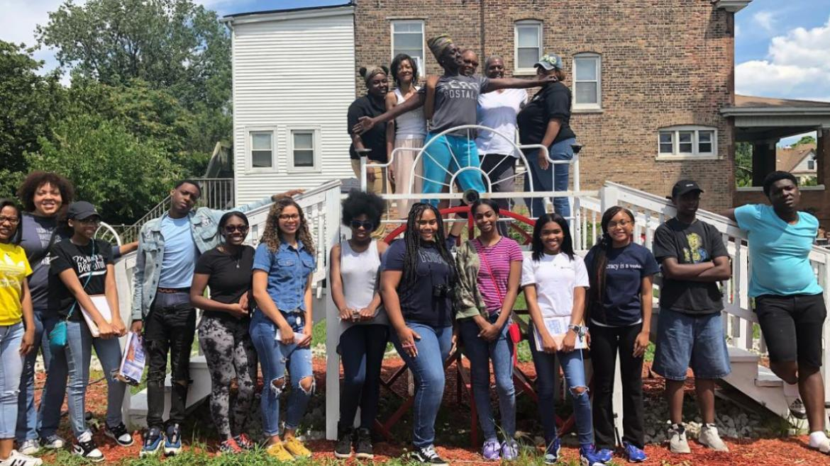 TRACErs visit the Life Builders Garden in Englewood