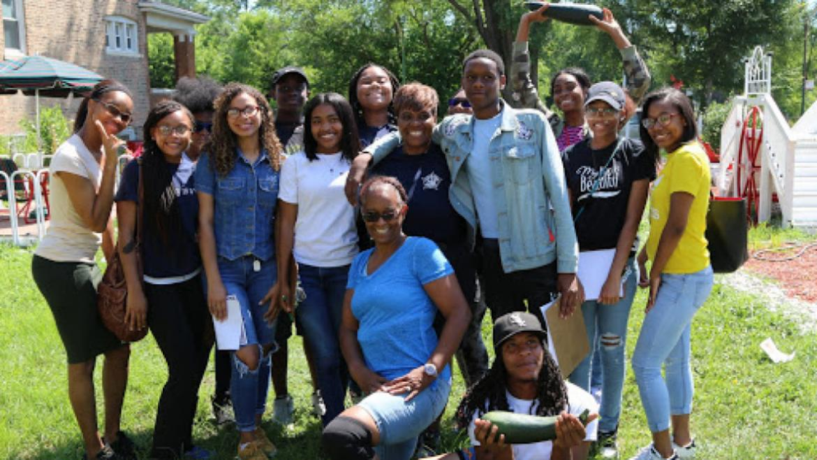 TRACErs visit the Sacred Keepers garden in Englewood