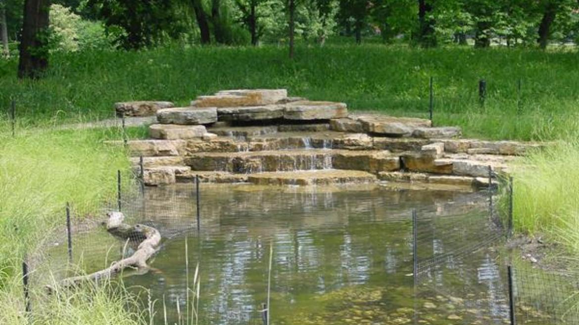 New rockwork created as part of Humboldt Park prairie restoration project, 2007