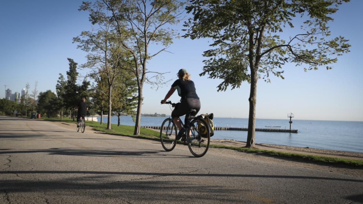 The Lakefront Trail is 18-miles long.