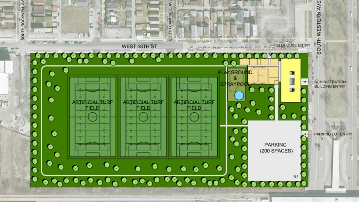 An empty lot at 4800 South Western Avenue could become the new home of the Chicago Park District headquarters.