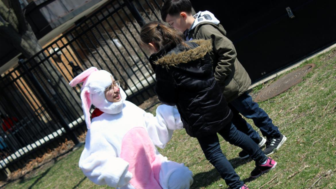 Visit with the bunny at many park locations across the city.