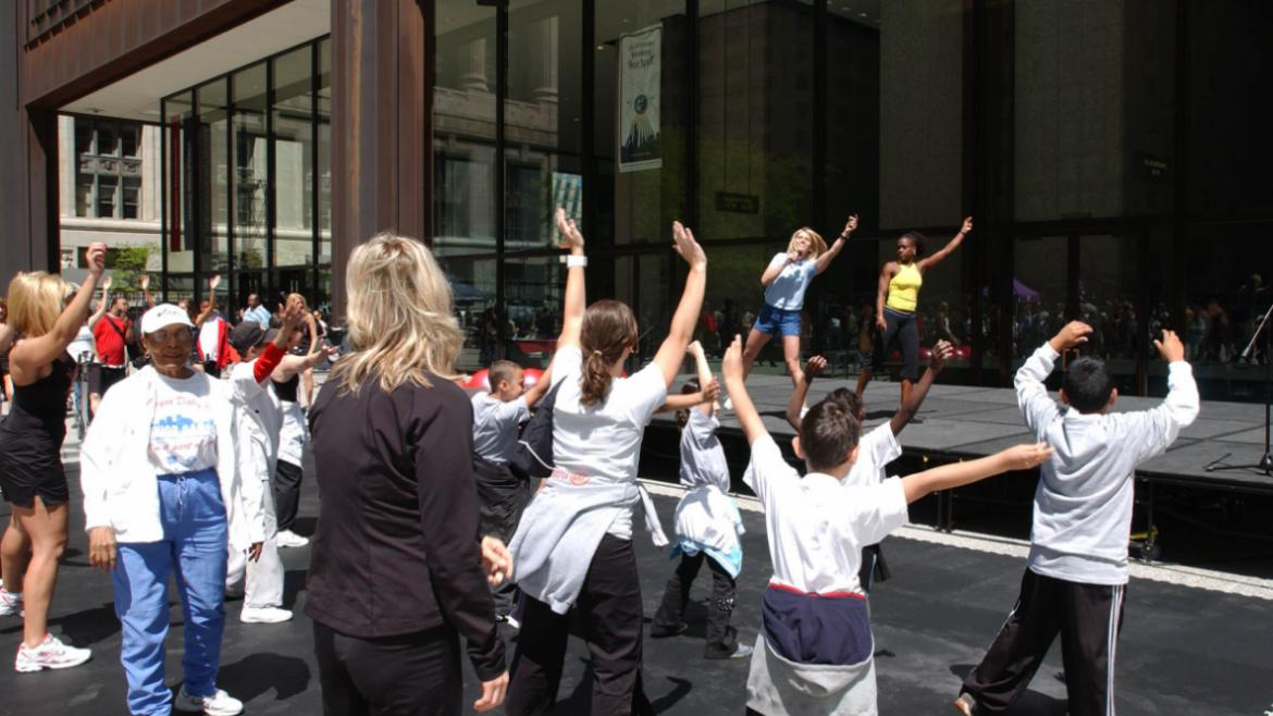 Work out for FREE on May 2 at a Chicago Park District Fitness Center.