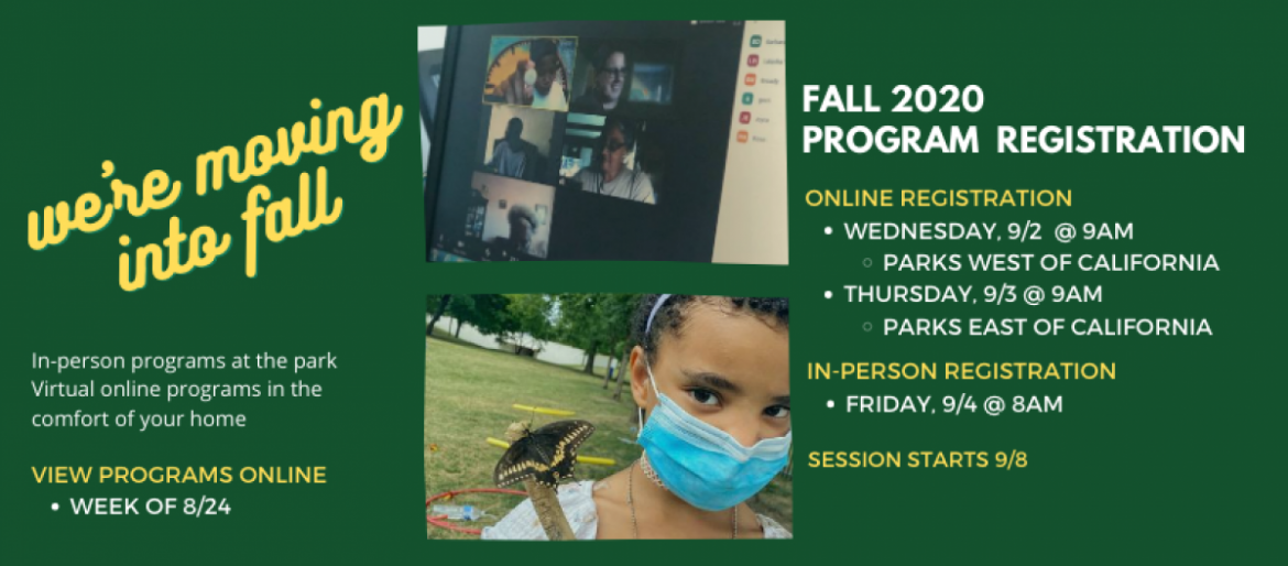 Fall Session Program Schedule will be Available the Week of August 24.