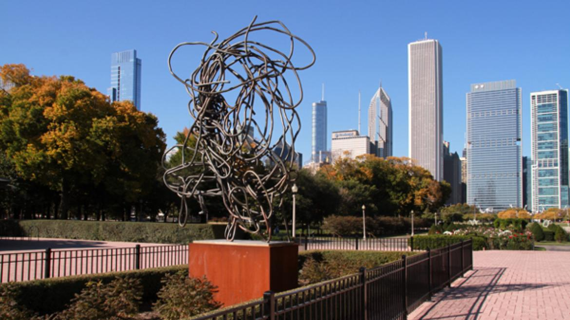 Grant Park is home to many public art installations.