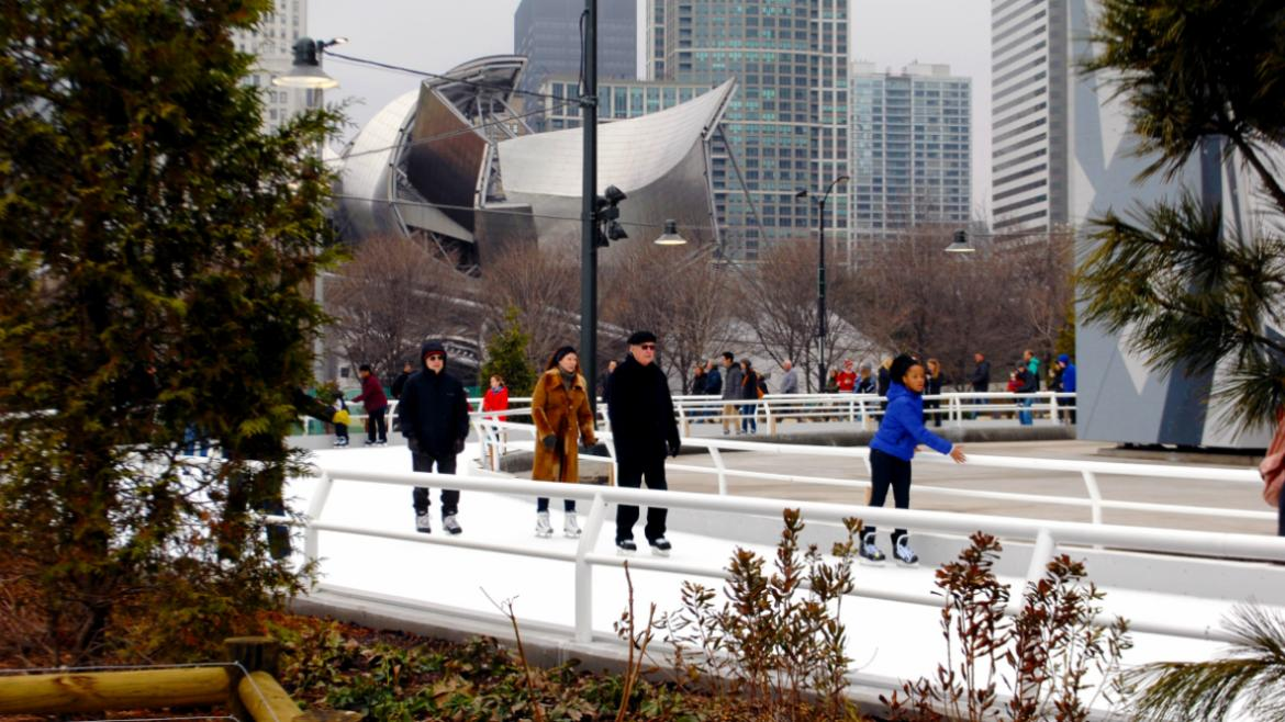 Maggie Daley Park's ice ribbon opens November 16.