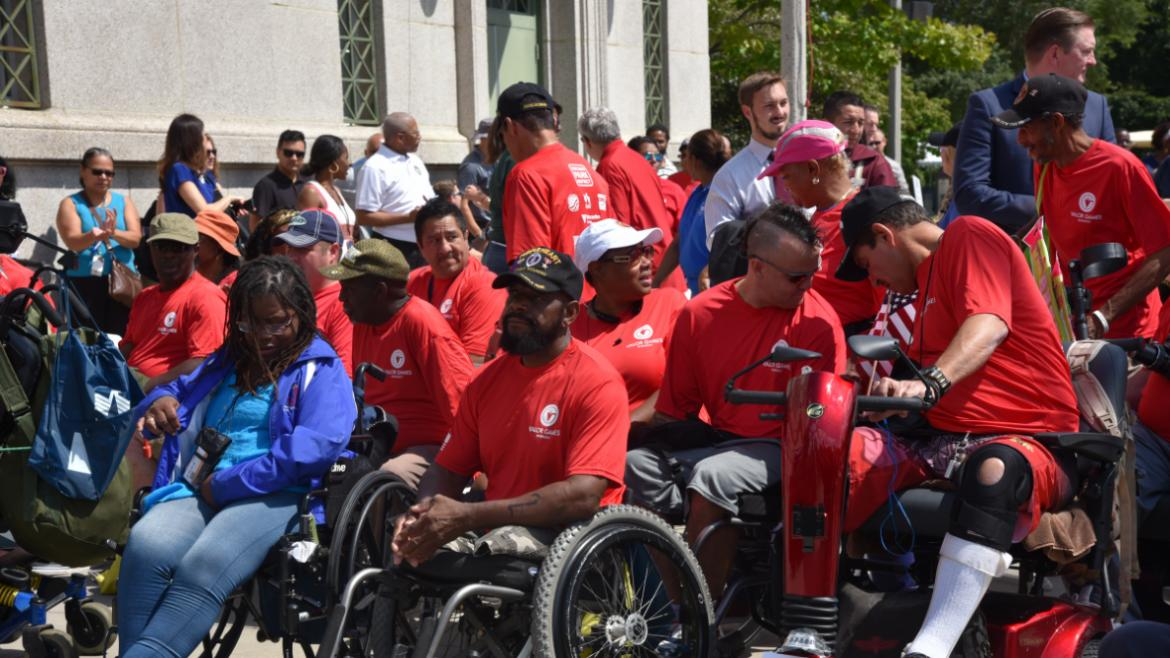 Veterans with a disability converged on Chicago last week (Aug. 13-15) for competition and camaraderie in the Valor Games Midwest.