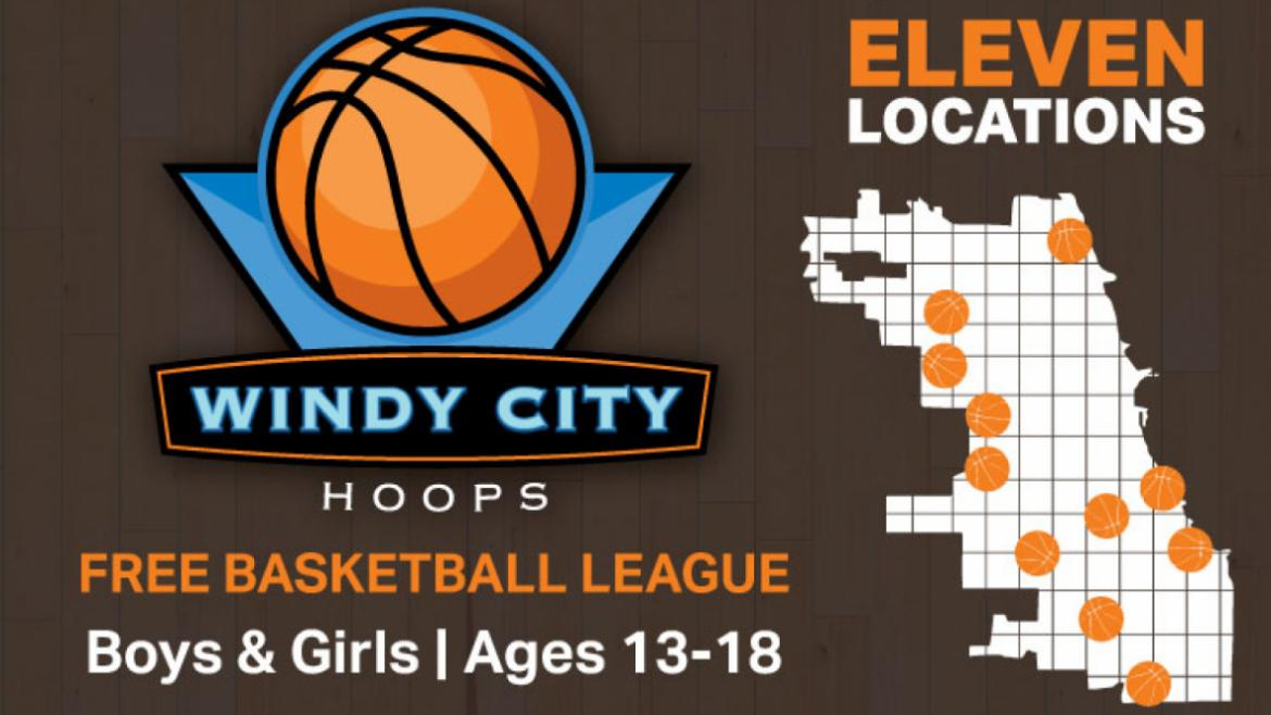 Windy City Hoops, a free Chicago Park District program now in its sixth year.