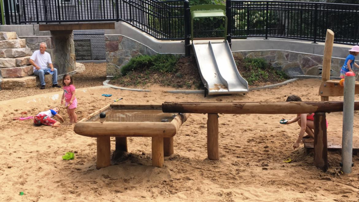 New playground and spray feature at Juniper Playlot Park in Lakeview.