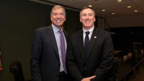 Bryan Traubert, left, led the Chicago Park District Board of Commissioners from 2010 to 2015.