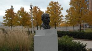The Aaron Montogmery Ward Bust is a smaller version of an original bust by Milton Horn.