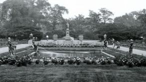 The Fountain Figures originally stood at the edges of the reflecting pool in Humboldt Park's.